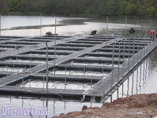 Установка оборудования для выращивания рыбы