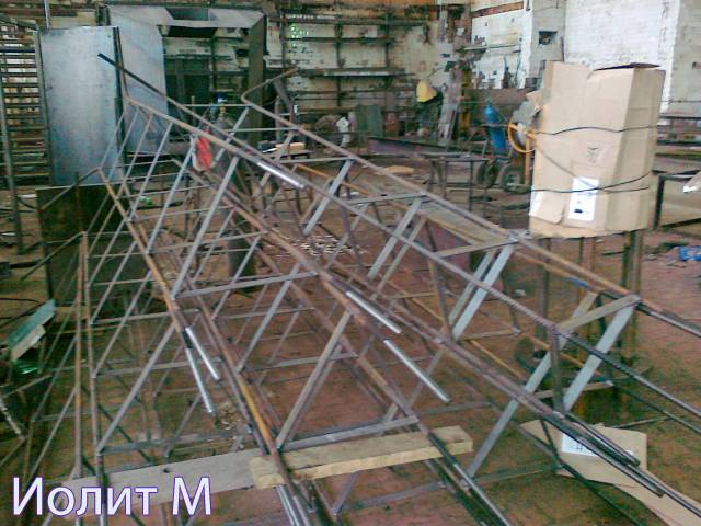 Установка металлоконструкций