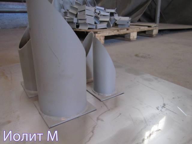 Производство опор трубопроводов. Металлические конструкции