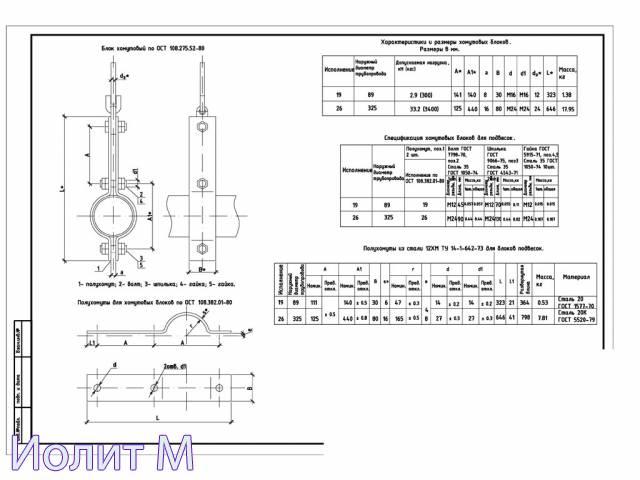 Регулируемые опоры трубопроводов
