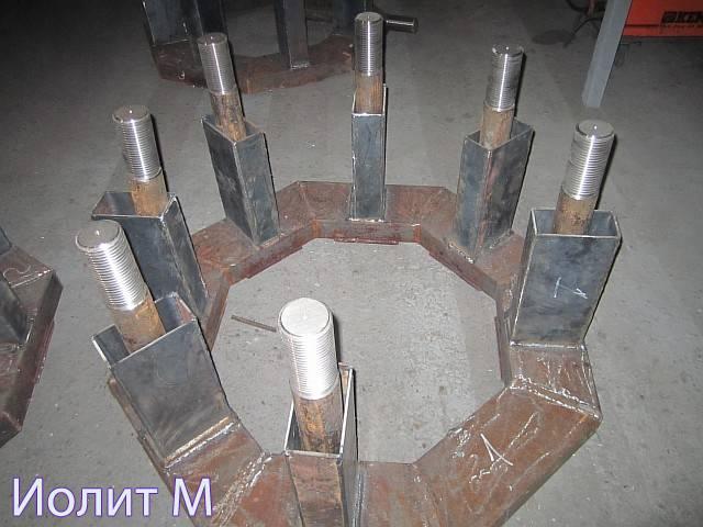 Металлоконструкции для швартовочных тумб